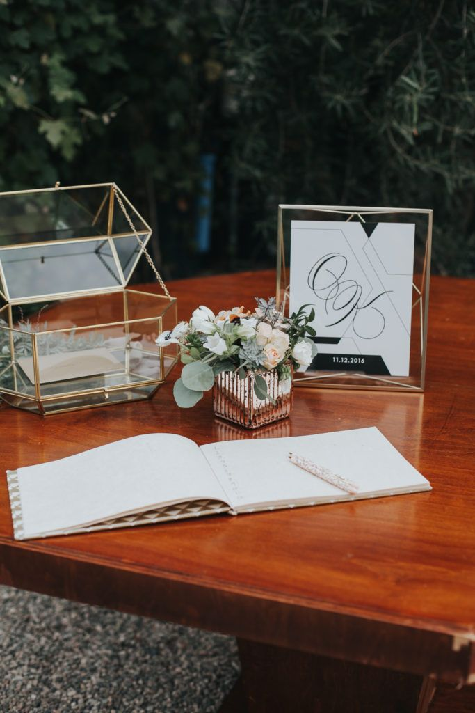 a modern fig house wedding  feathered arrow  wedding
