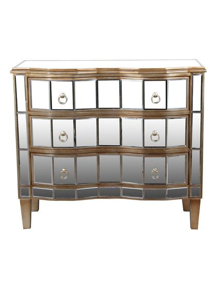 Charming Reminiscent Of Old Hollywood Style, This Chic Mirrored Chest Adds A Touch  Of Glam To Your Master Suite Or Parlor. Product: ChestConstruction  Material: Wood ...