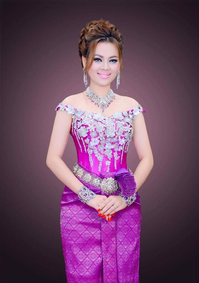 Atractivo Vestido De Dama Khmer Para La Fiesta De La Boda Motivo ...