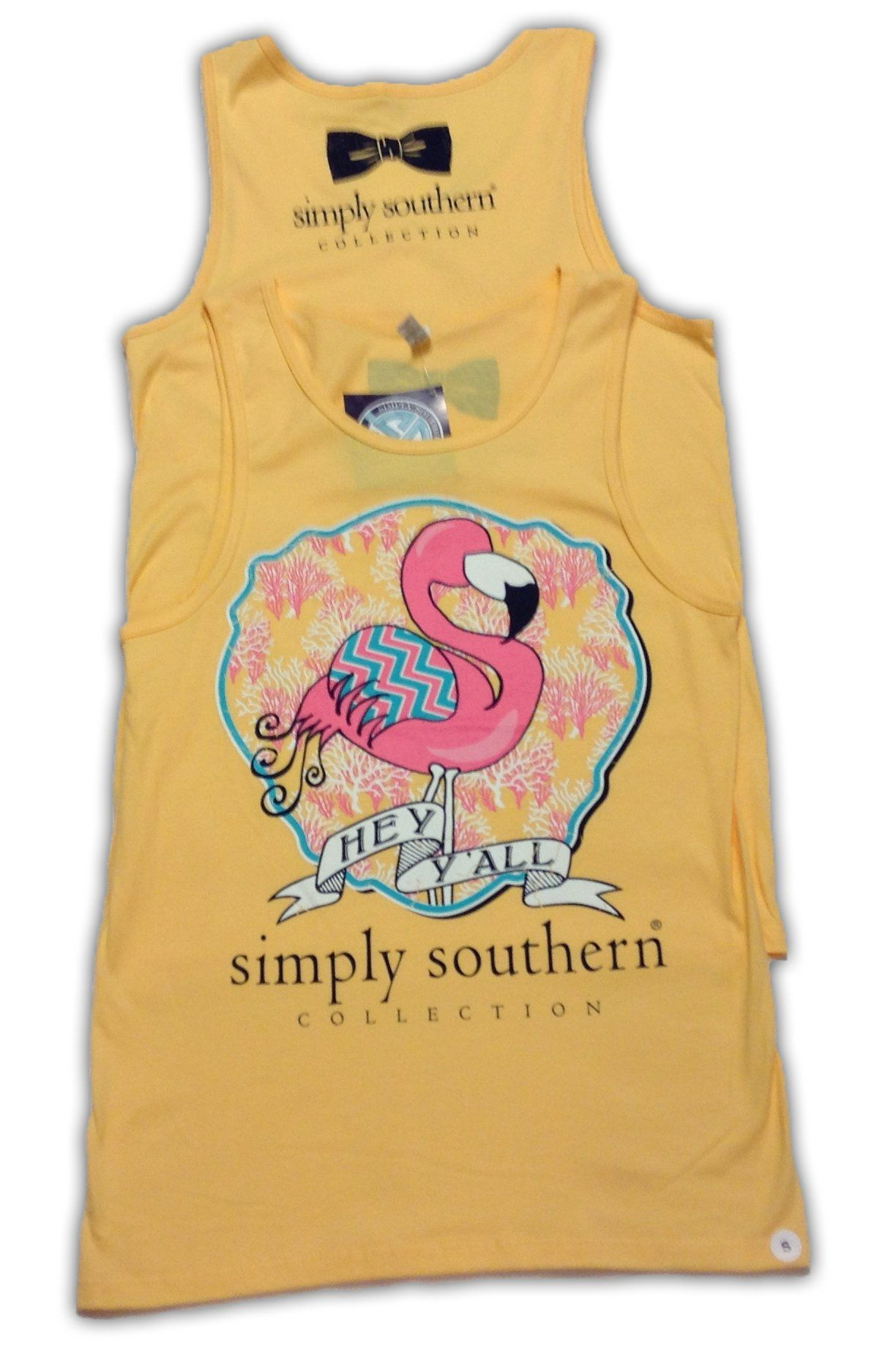 5160f489d5878 Simply Southern Preppy Flamingo Tank Top at Amazon Women s Clothing store