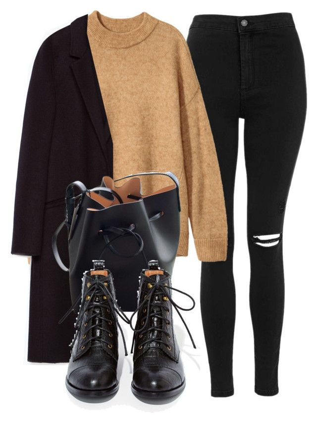 """""""Untitled #7008"""" by laurenmboot ❤ liked on Polyvore featuring Topshop, Zara, Mansur Gavriel and Jeffrey Campbell"""