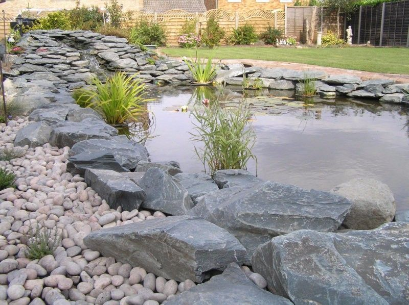 This Green slate rockery pond is just one of the great