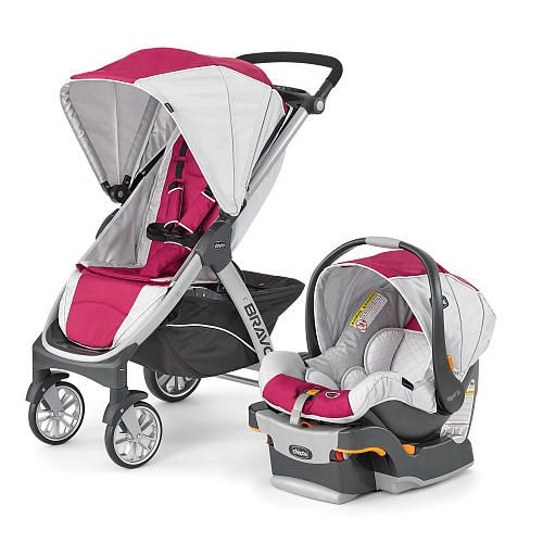 Chicco Bravo Trio Travel System Stroller Orchid Chicco