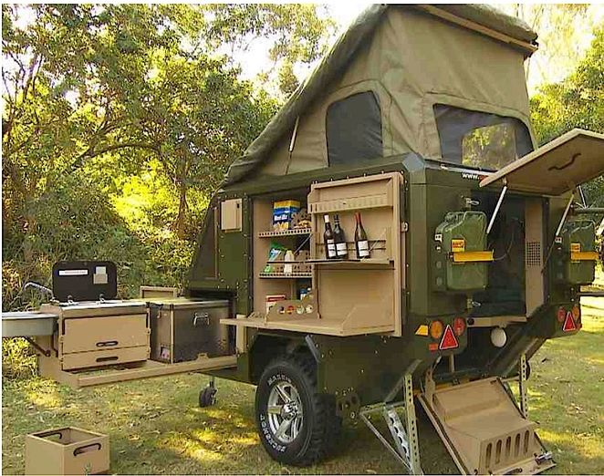 Conqueror Popup Trailer Has A Place For Everything And Is Ready