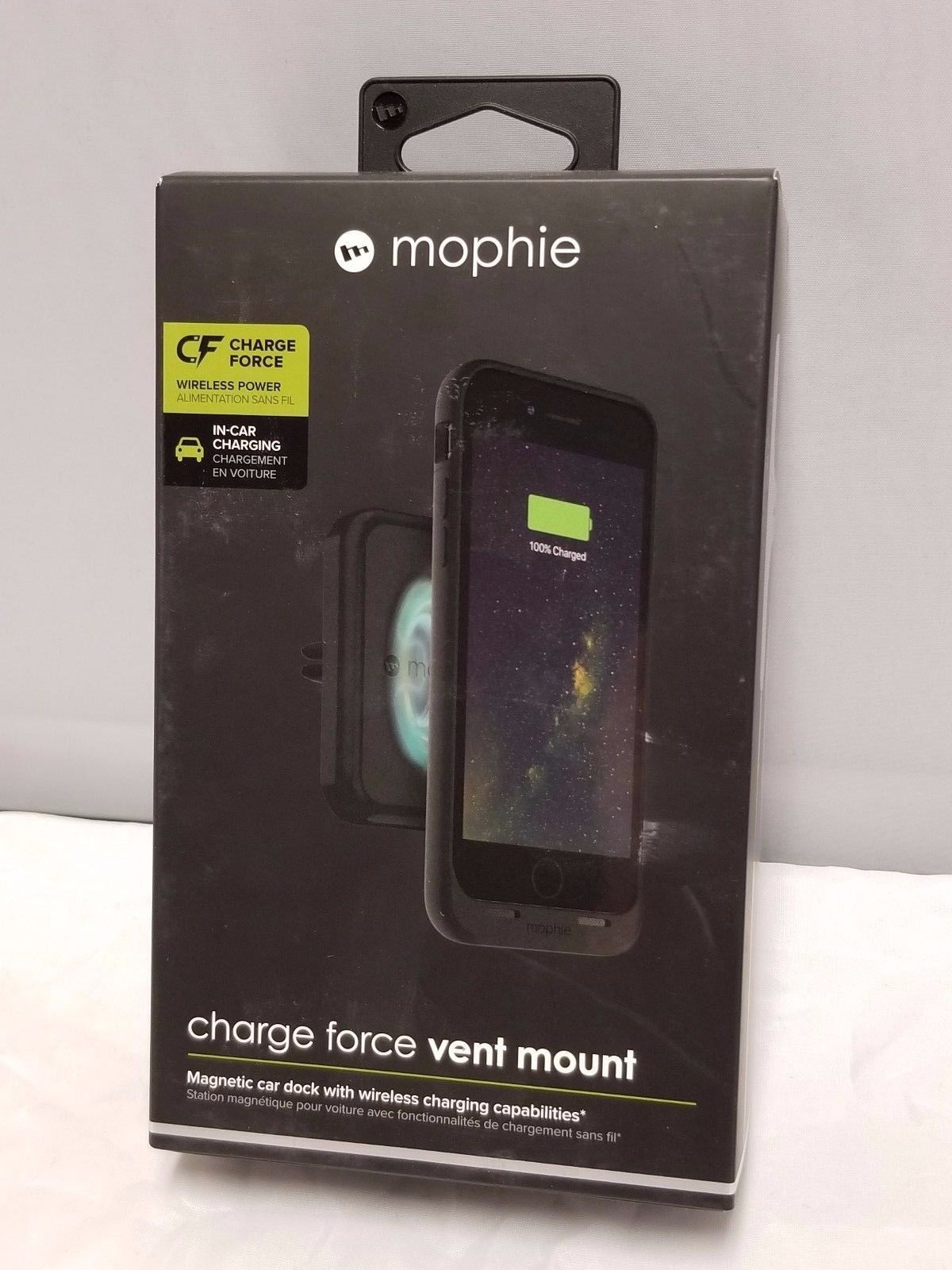 super popular 8ab70 fd95f Mophie Charge Force WIRELESS CHARGING VENT MOUNT - IPHONE 8 MAGNETIC ...