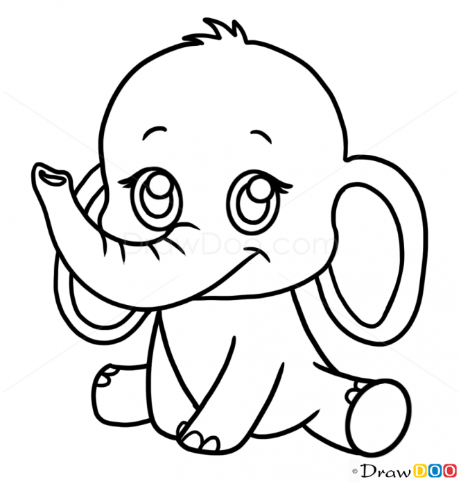 Scribble Drawing Animals : How to draw a elephant google search projects try