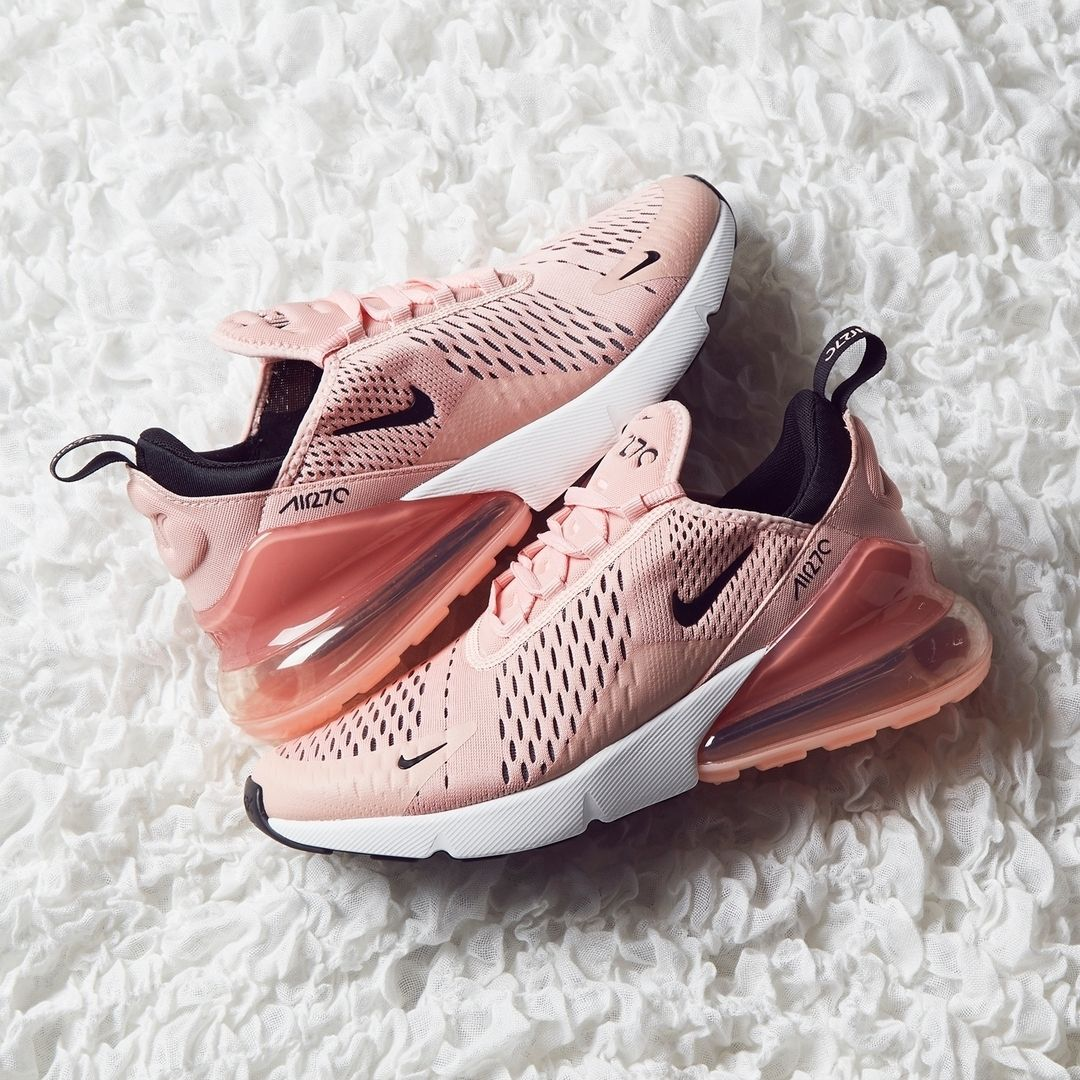 lowest price a256f 211a0 Update your sneaker style with this Nike Air Max 270 Womens Shoe in pink.  One of the most popular Nike sneakers of 2018.