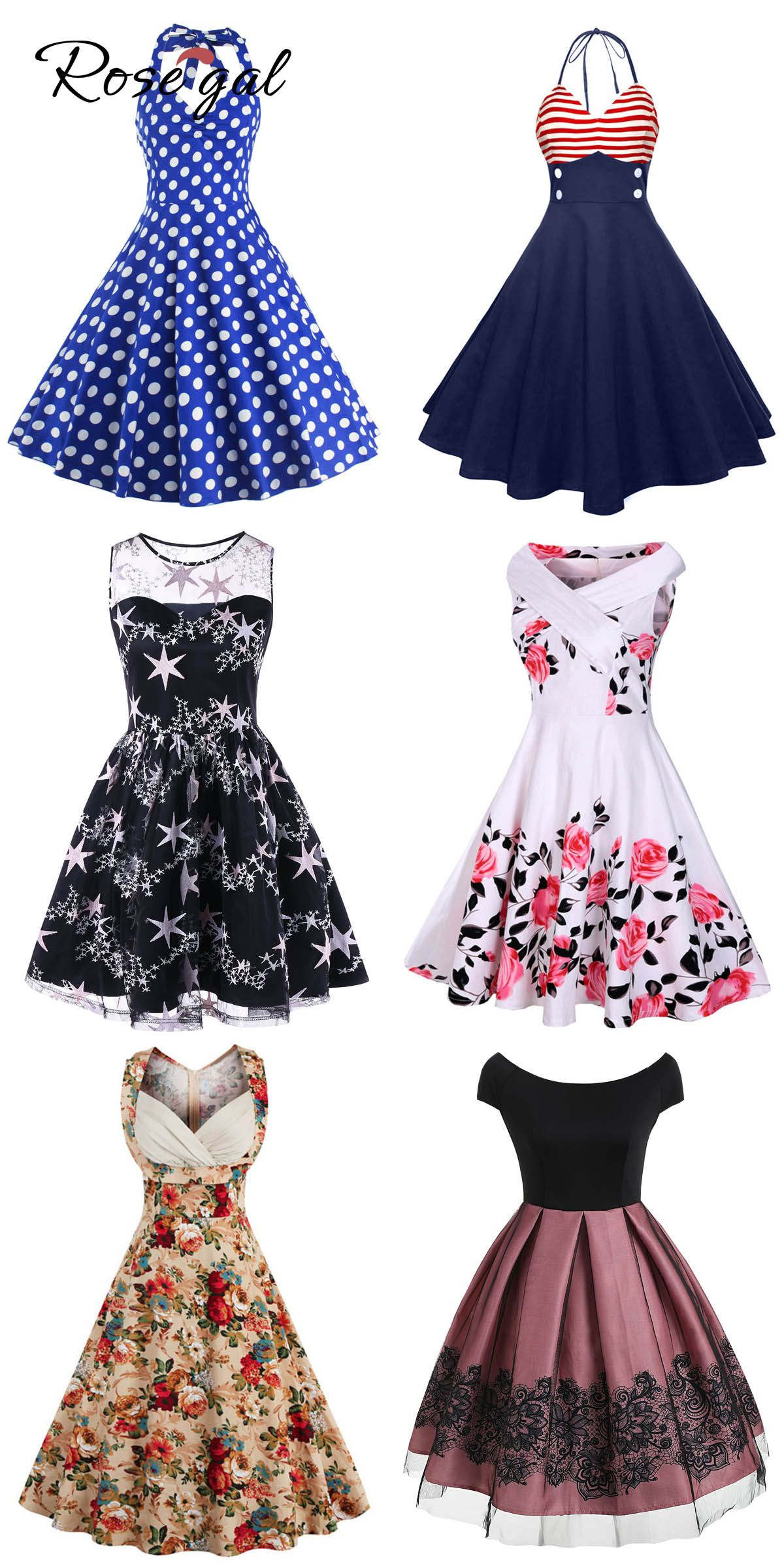 Free Shipment Worldwide Up To 80 Off Rosegal Vintage Fashion Retro Style Derby Dress For Women Vintage Dress Shop Fashion Dresses Unique Vintage Dresses