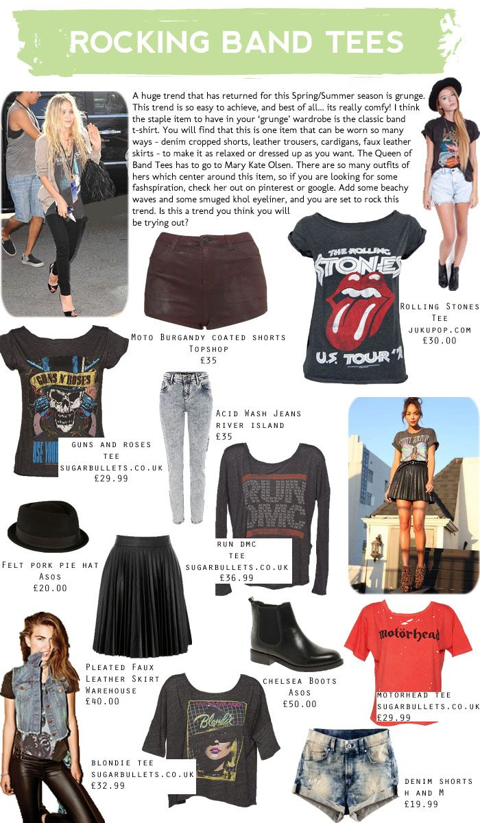 different ways to rock a band tee