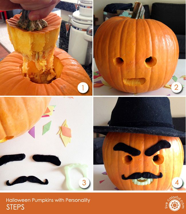 DIY Easy Halloween Pumpkins with Personality Easy halloween - easy halloween pumpkin ideas
