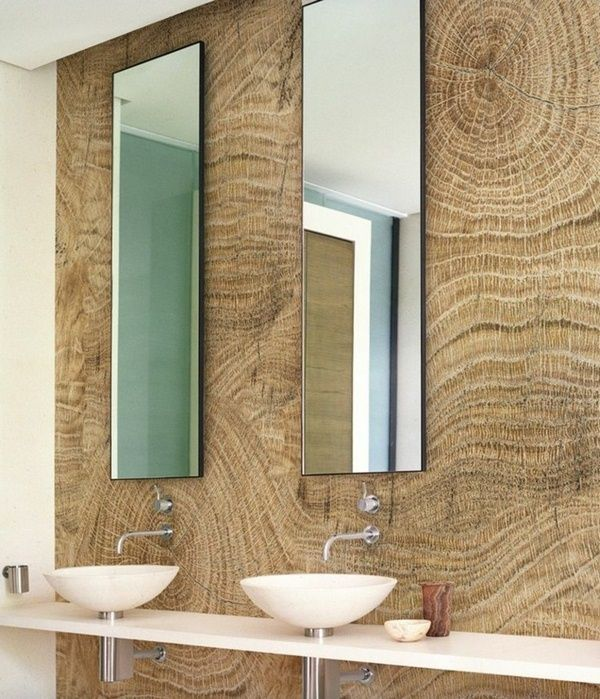 Bathroom Wallpaper Ideas Beautiful Wallpaper Imitation Wood Wall