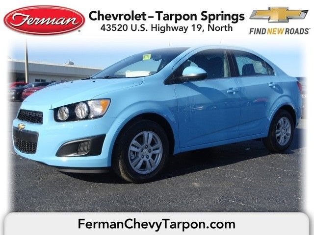 2014 Chevrolet Sonic Lt Sedan Cool Blue