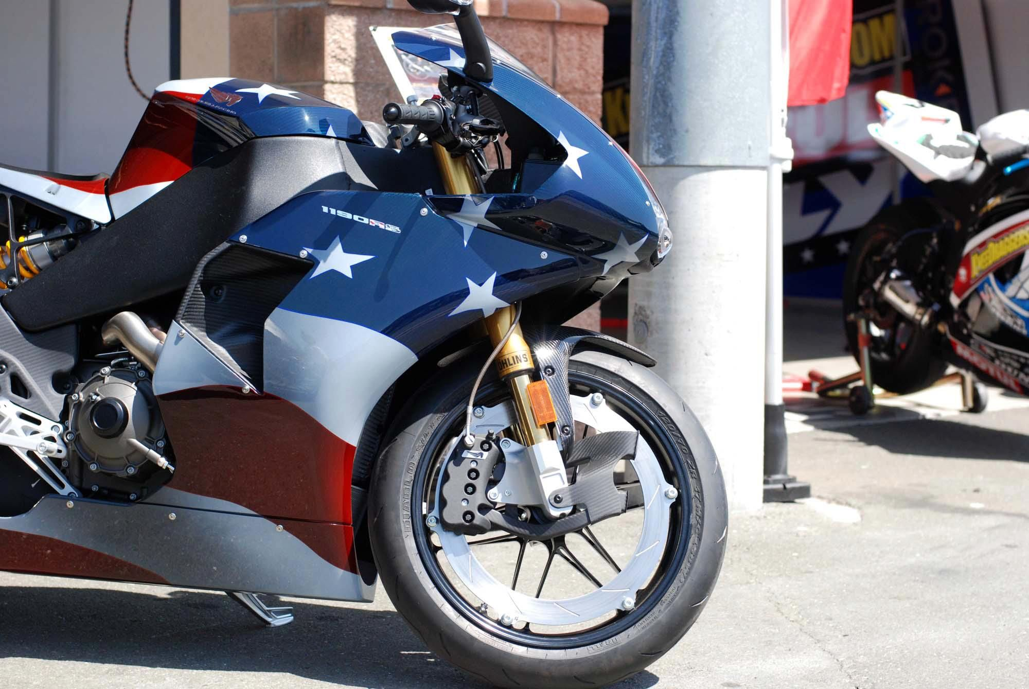 Up close with the erik buell racing merica edition asphalt rubber