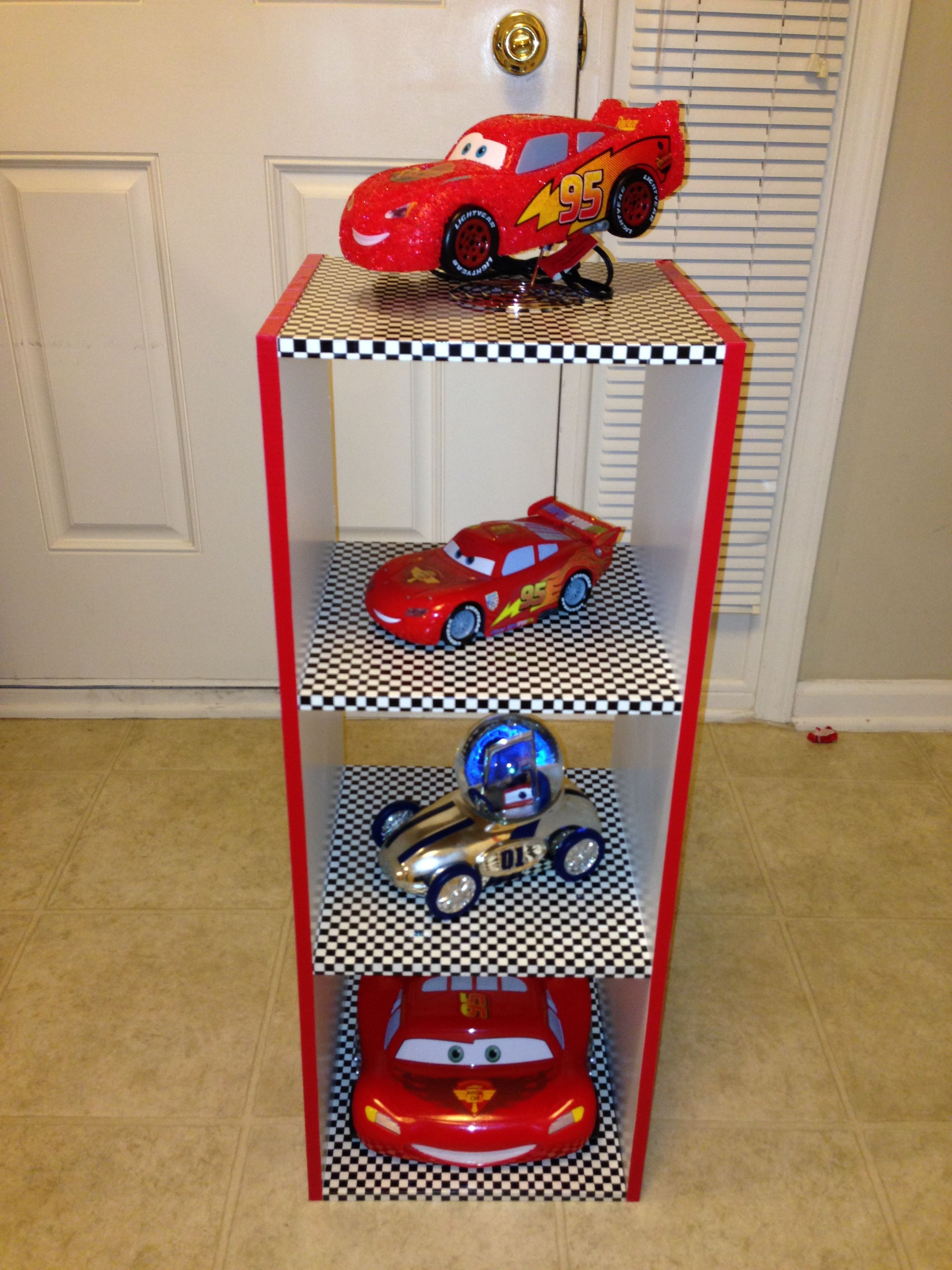 When you can t find a nightstand that matches a car themed room you