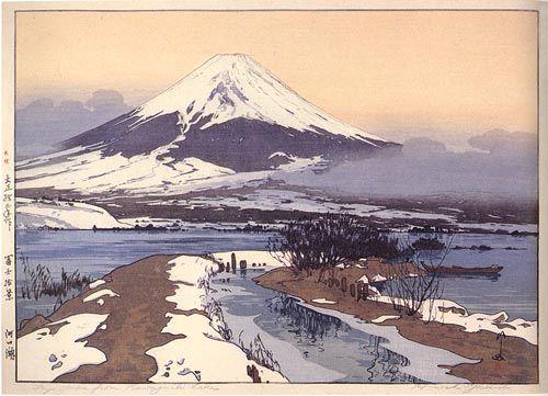 hanga gallery . . . torii gallery: Fujiyama from Kawaguchi Lake by Hiroshi Yoshida