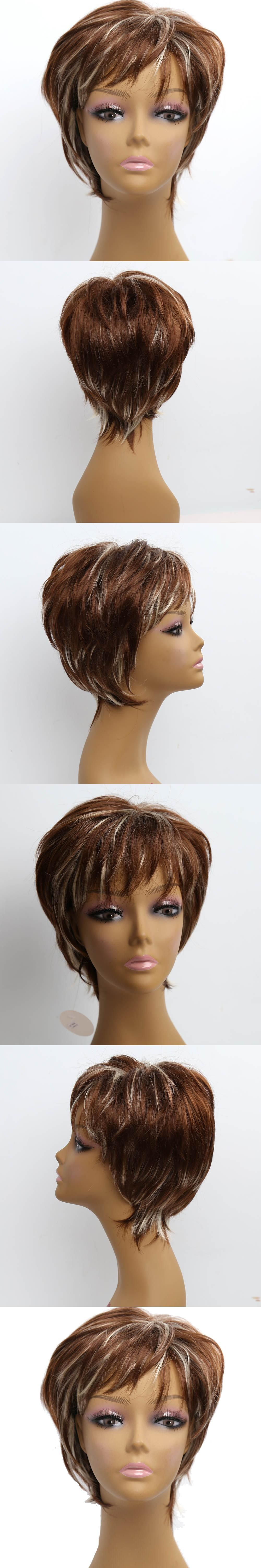 Amir ombre synthetic wigs short blonde wigs synthetic female short