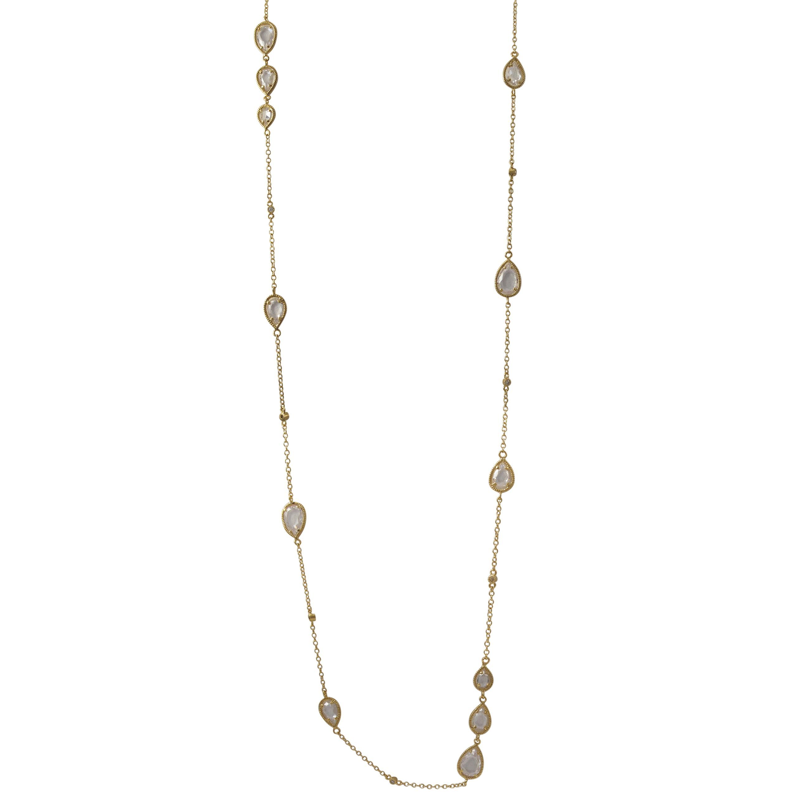 pearl yellow station necklace freshwater n gold diamond cut products bmd cultured inches
