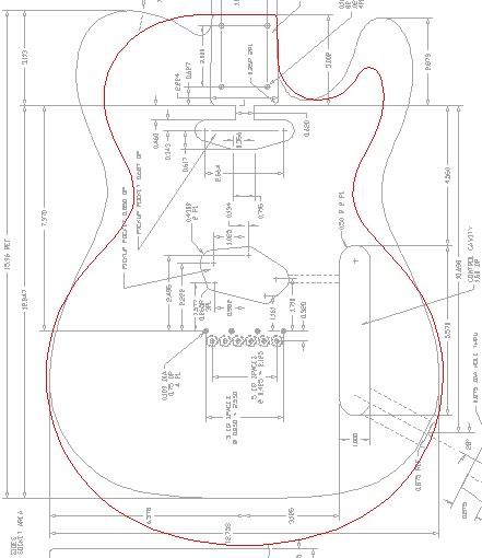 Printable Guitar Template Pdf  Page   Telecaster Guitar Forum