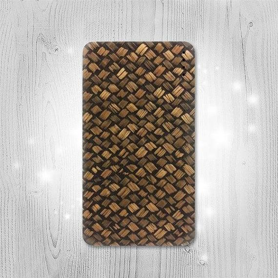 Bamboo Wickerwork Pattern Gadget Personalized Tech by Lantadesign