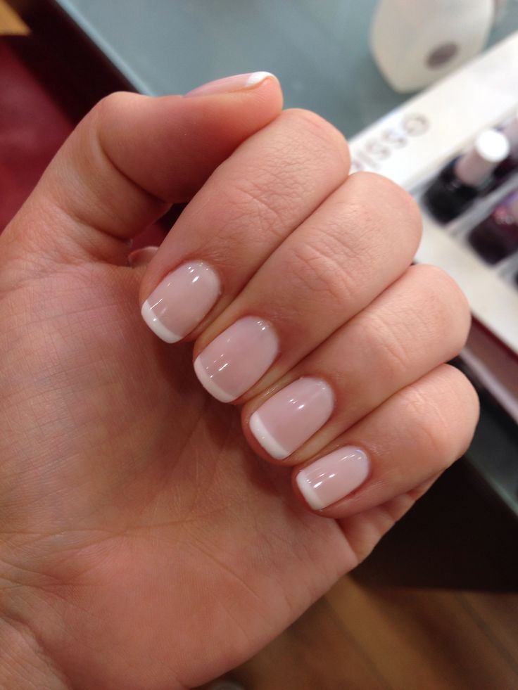 French Manicure American Manicure Nails French Tip Gel Nails French Manicure Nails