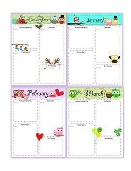 school monthly newsletter templates