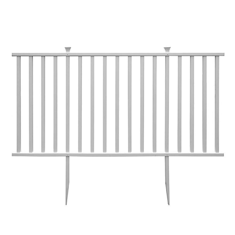 Birkdale semipermanent 4 ft x 75 ft white vinyl fence