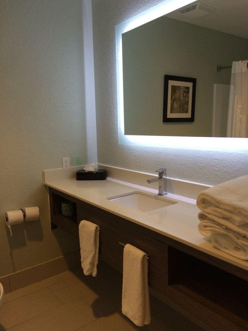 Illuminated Back Lit Mirror With Led Cord Light Bathroom