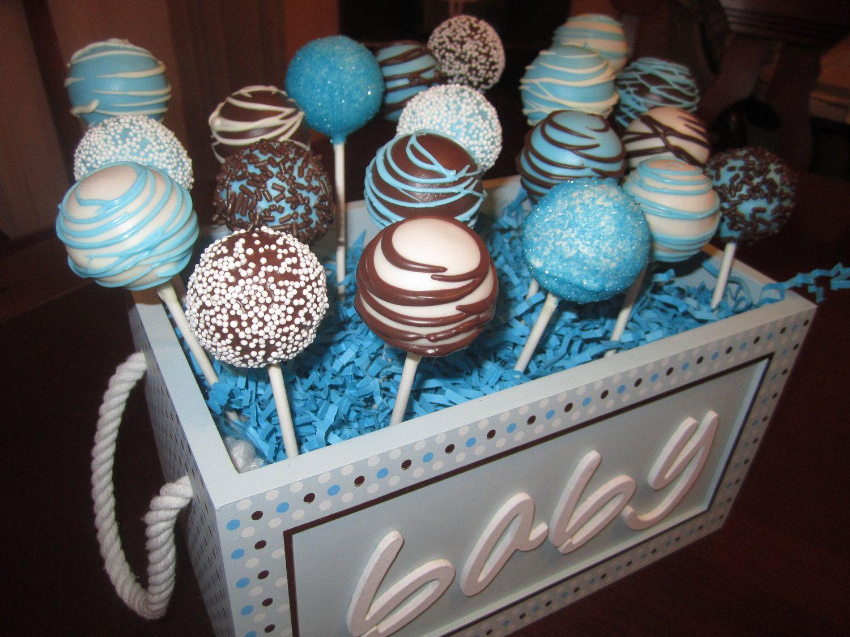 Blue Cakes Pops Baby Shower Cake Pops Baby Shower Cakes Baby