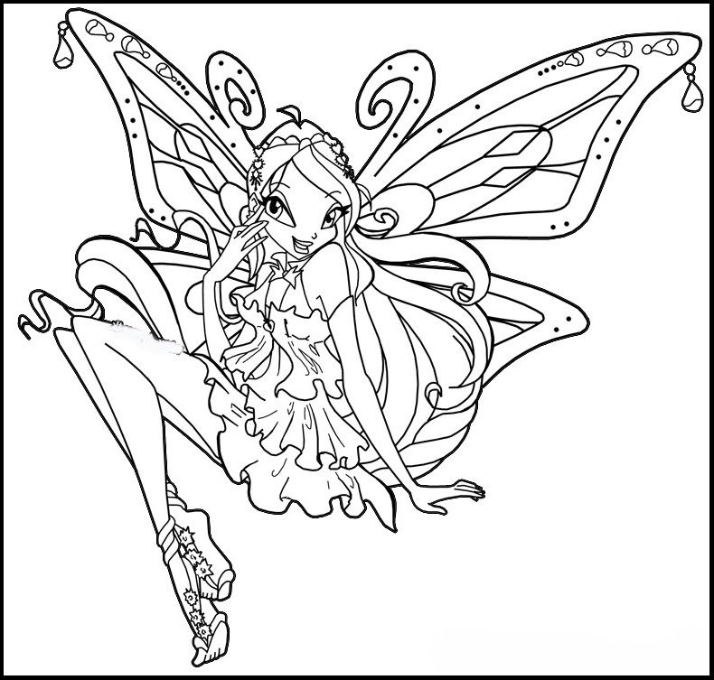 Winx Club Enchantix Coloring Pages For Kids Gtw Printable Winx Club Coloring Pages For Kids Coloring Pages Super Coloring Pages Bloom Winx Club