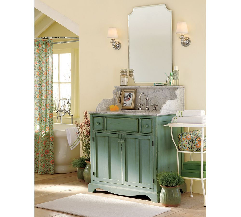 eleanor frameless mirror from pottery barn #bathroomlela