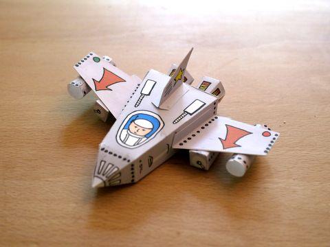 printable papercraft spaceship template kinder basteln. Black Bedroom Furniture Sets. Home Design Ideas