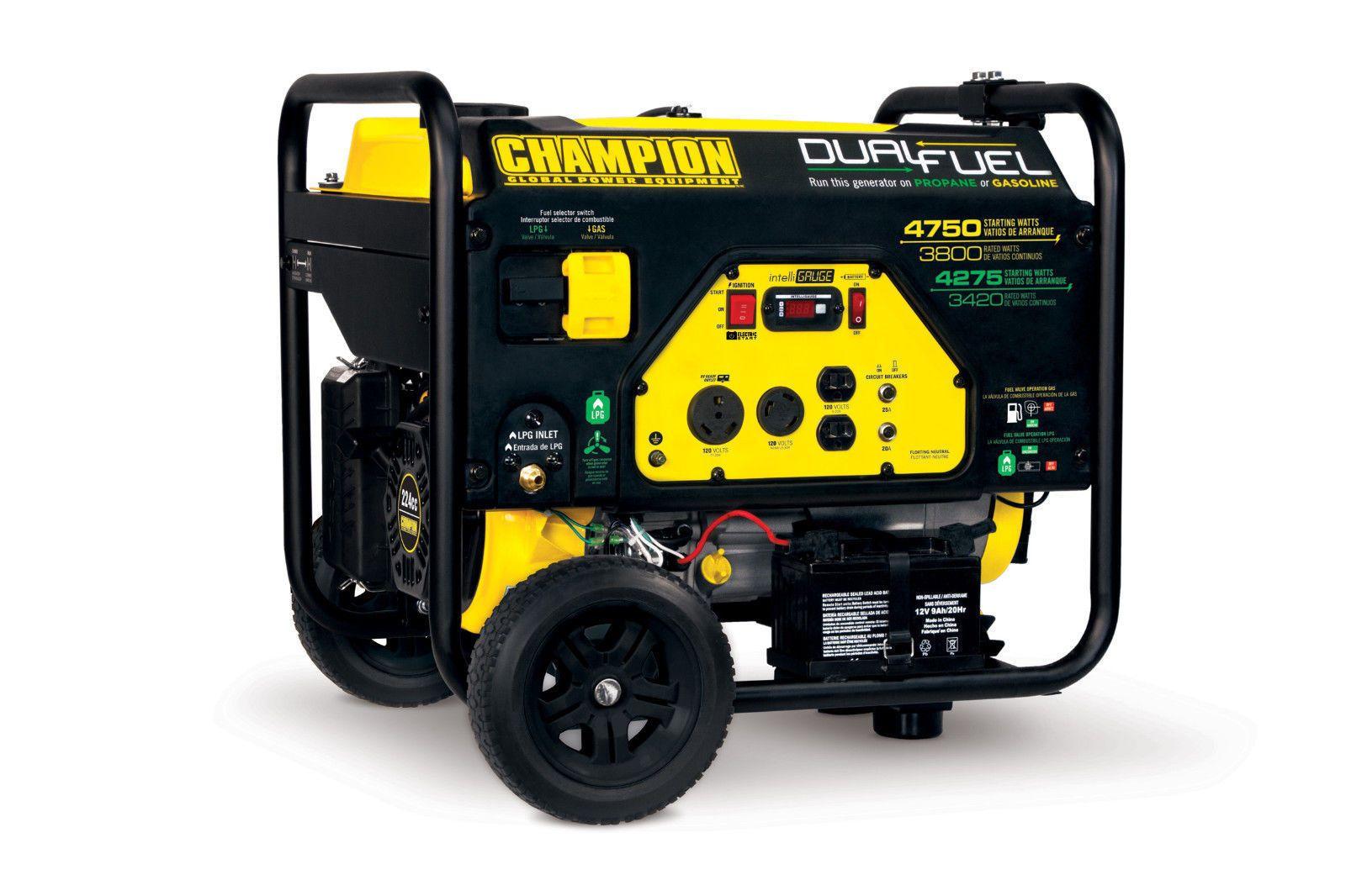 76533 Champion 3800/4750w Dual Fuel Generator Dual