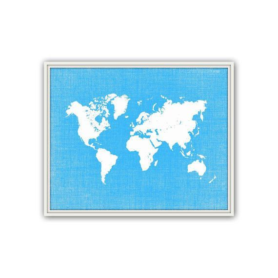 World map poster travel art print choose your color spring world map poster travel art print choose your color spring summer home gumiabroncs Gallery