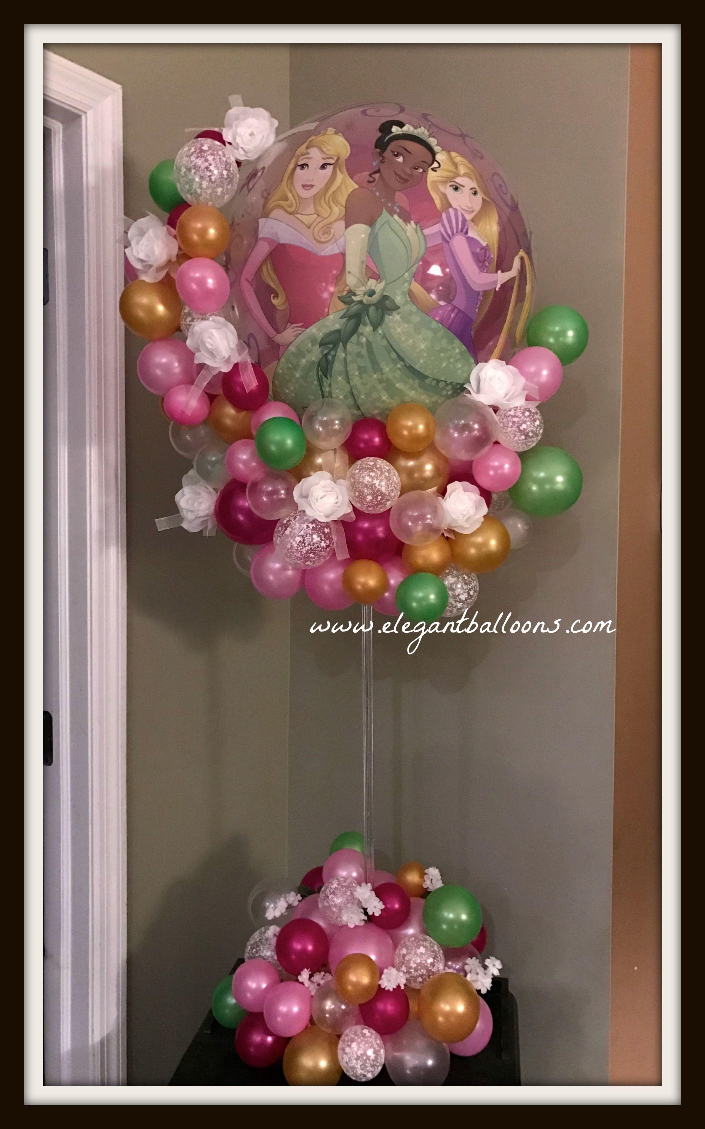 Princess Balloon Decoration Princess Balloon Centerpiece Wwwelegantballoonscom Elegant