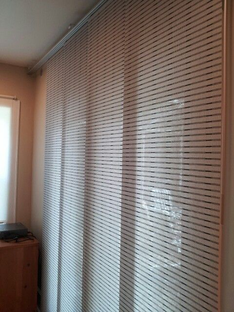 Ikea Curtain Covering French Doors Much Better Than Verical