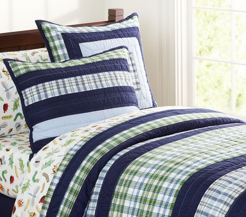 Chance's new 'big boy bed' quilt... Greyson from Pottery Barn ... : quilts for boys beds - Adamdwight.com