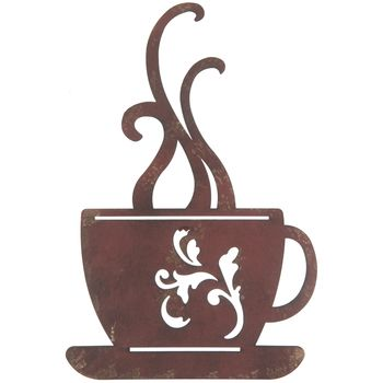 Red Metal Coffee Cup Wall Decor   Home decor   Pinterest   Coffee ...