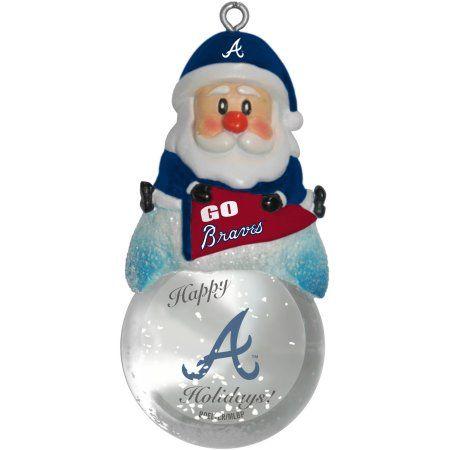 Topperscot by Boelter Brands MLB Santa Snow Globe Ornament, Atlanta Braves,  Multicolor - Topperscot By Boelter Brands MLB Santa Snow Globe Ornament, Atlanta