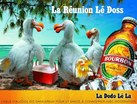 Ad 2 for Bourbon beer, from Réunion Islands