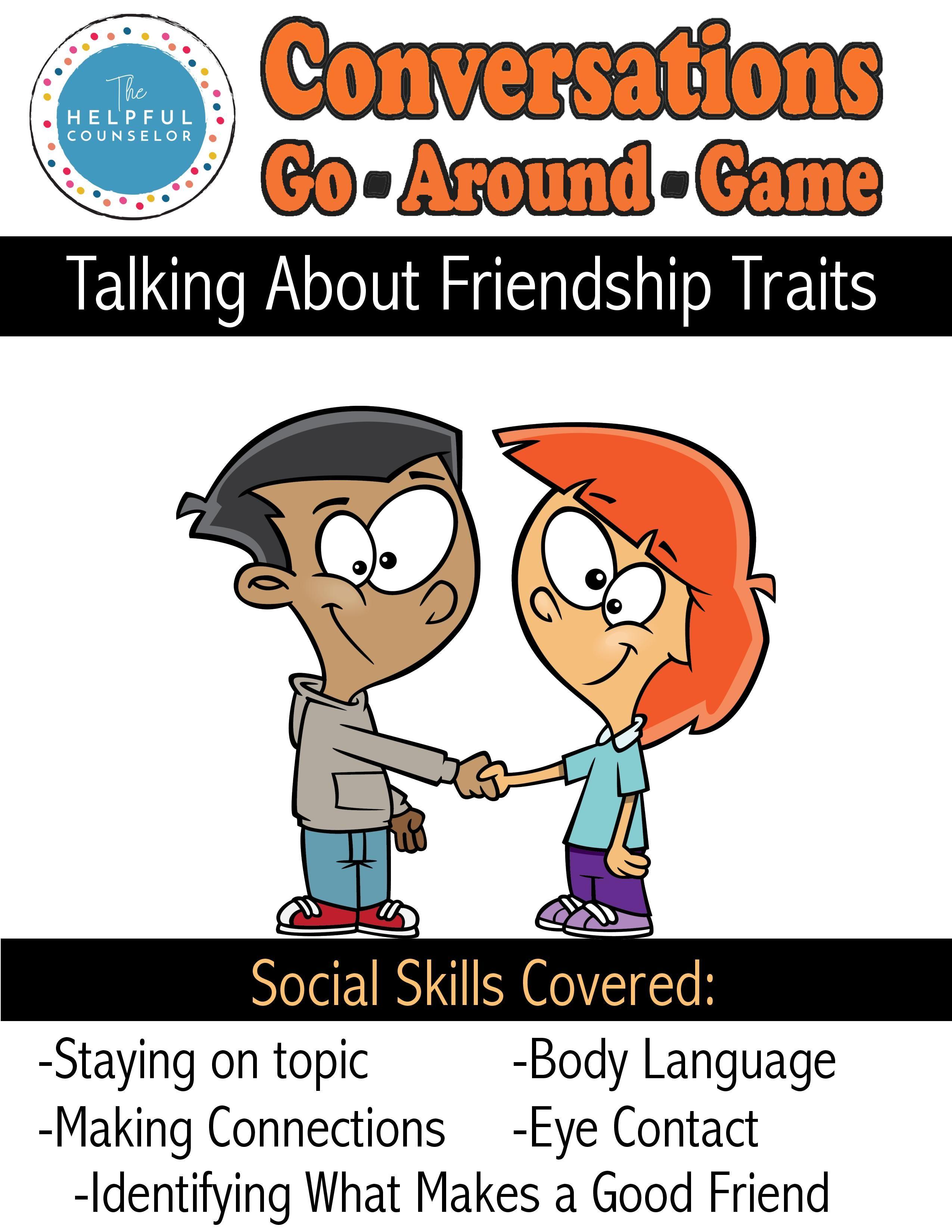 Social Skills Game Conversations Go Around Friendship