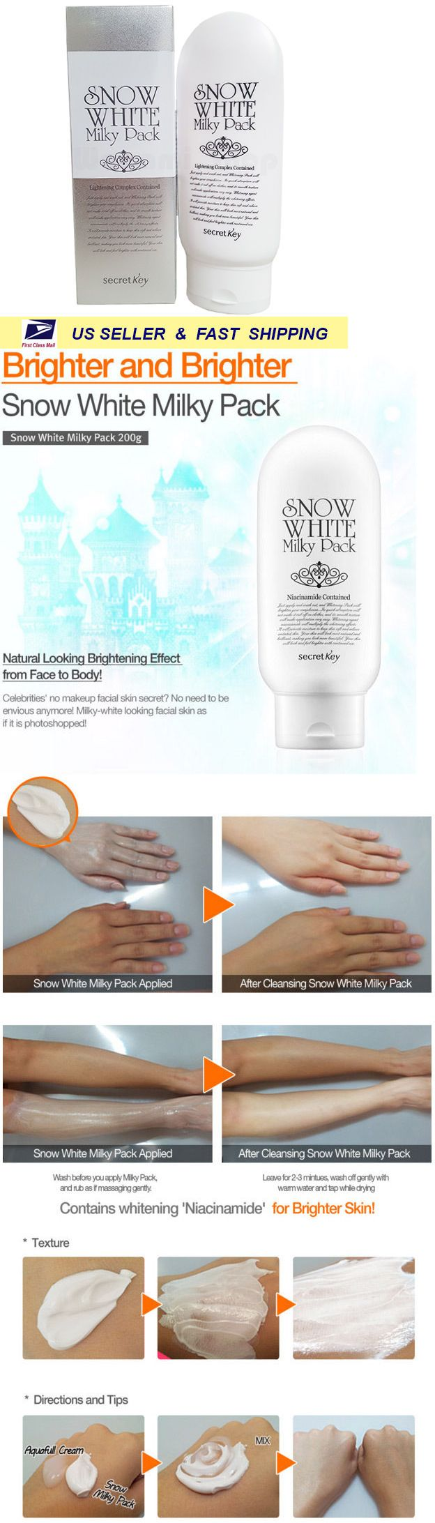 Lightening Cream 40088 Secret Key Snow White Milky Pack 200g New Fresh Buy It Now Only 1348 On Ebay