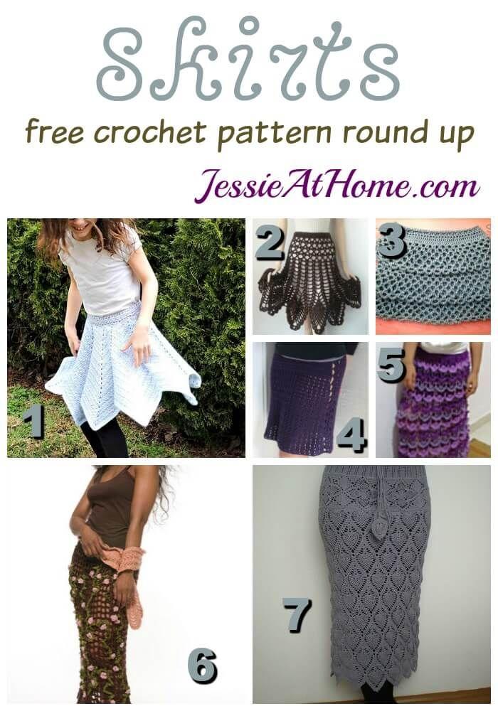 A round up of crochet skirts, 7 free crochet skirt patterns, perfect ...