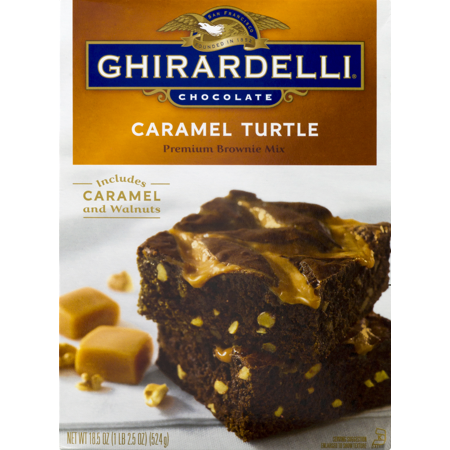 Ghirardelli Chocolate Caramel Turtle Brownie Mix, 18.5 oz #turtlebrownies Ghirardelli Chocolate Caramel Turtle Brownie Mix, 18.5 oz #turtlebrownies
