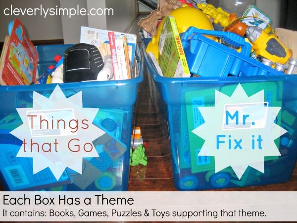 An easy way to organize all those toys and keep them from taking over!  I'm never going back!