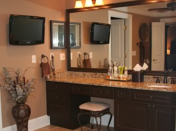 bathroom vanities with makeup area | looking for make up vanity