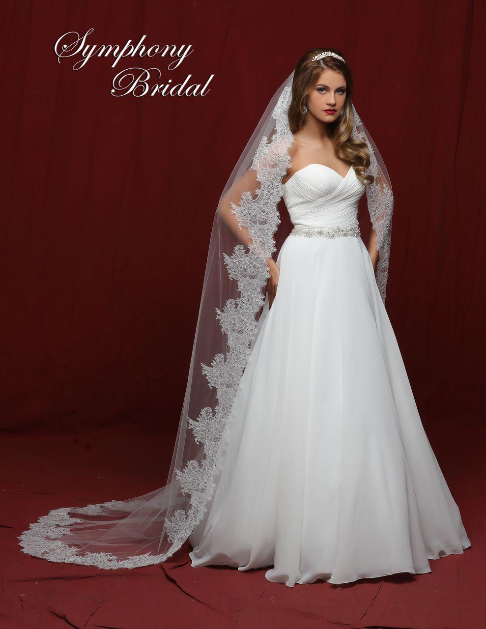 Chantilly Lace Chapel Wedding Veil Symphony Bridal 6841VL