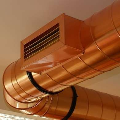Exposed 10 Tips For Showing Off Ducts Pipes Beams And More Ventilation Duct Hvac Duct Duct Work