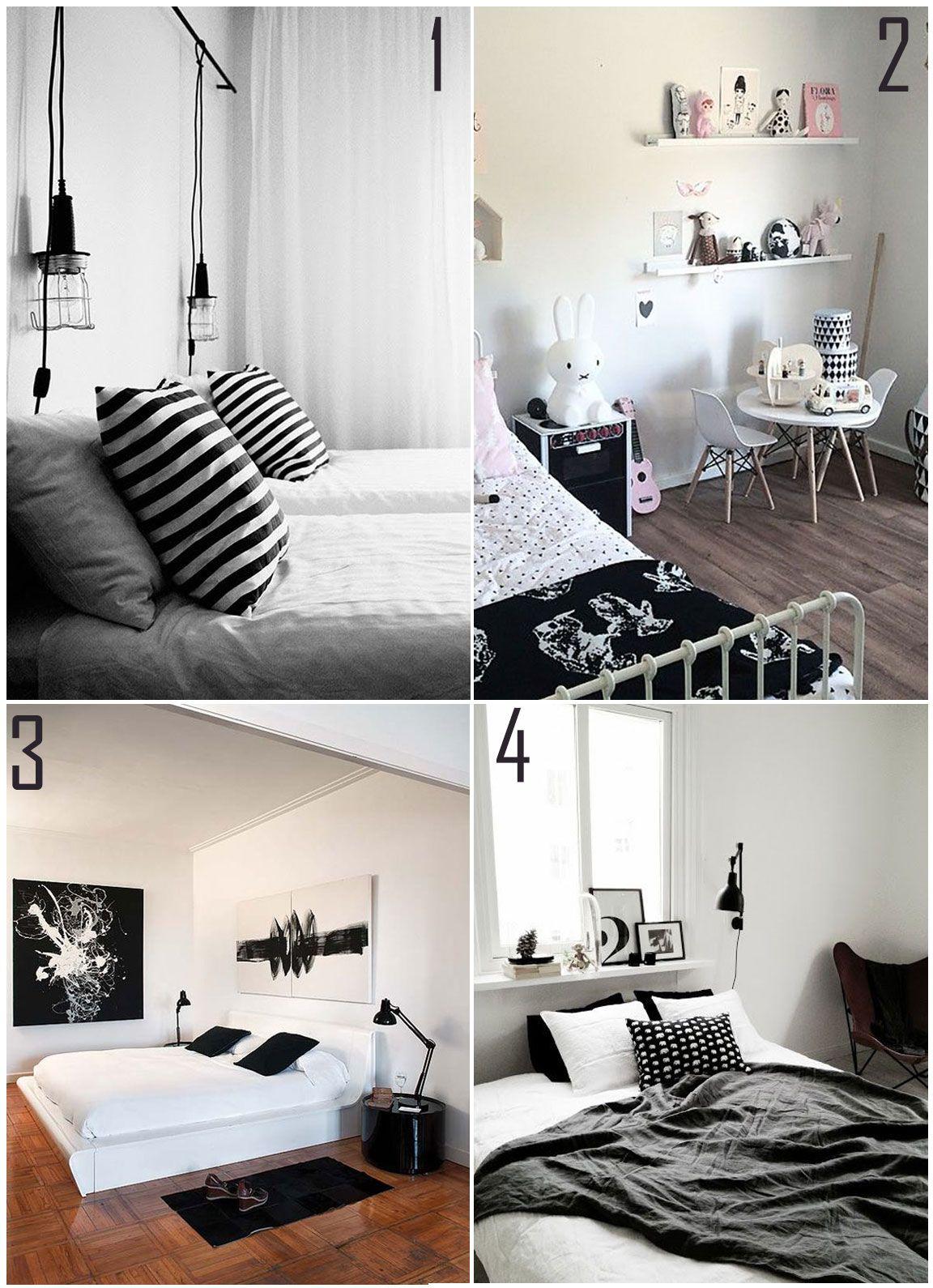 Decora O Preto E Branco Quartos Room And Dream Rooms ~ Lindo Quarto De Casal Com Quarto Pintado De Preto