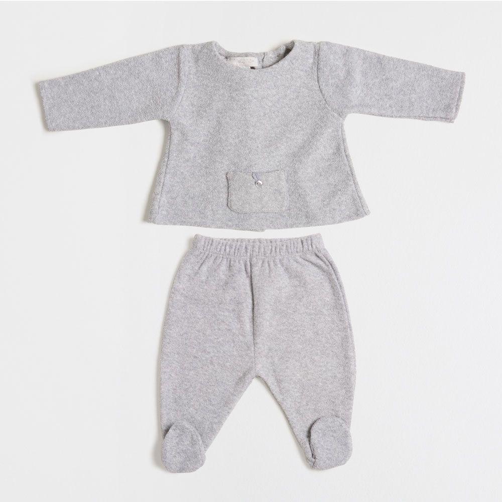 Roupas Para Crianças · Ensemble bébé tissu bouclette petites étoiles f2b3cccd676fa