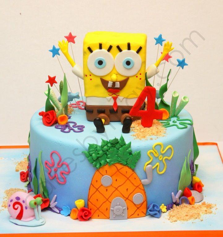 Spongebob Squarepants Cake Ideas Spongebob Cake Spongebob